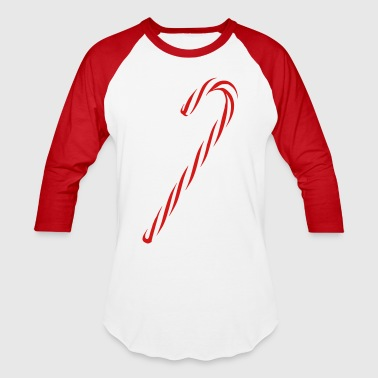 Candy Candy Cane Stripes - Baseball T-Shirt