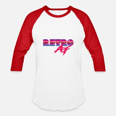 Big Ass S & 1980's Retro AF - Baseball T-Shirt