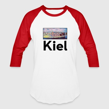 Kiel Kiel City Skyline Sights Silhouette Landmark Art - Baseball T-Shirt