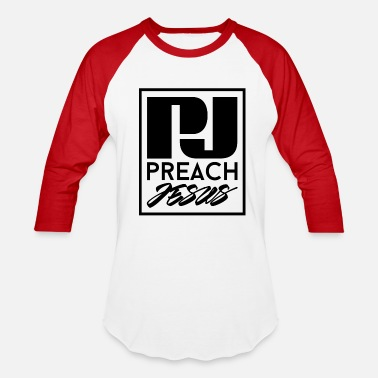 Urban Christian Preach Jesus (BLK) - Baseball T-Shirt