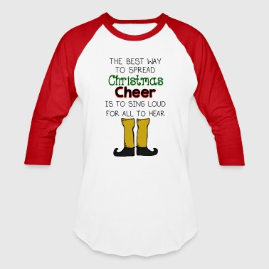 Christmas Cheer Buddy Elf - Baseball T-Shirt