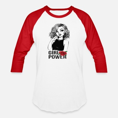 Cool Rose Girls power .rose cute cool - Baseball T-Shirt