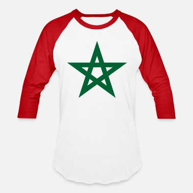 Morocco 2000px Star of Morocco unbordered svg - Unisex Baseball T-Shirt