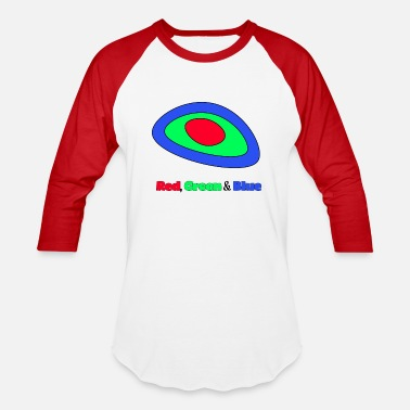 Red White And Blue RGB Red,Green and Blue - Unisex Baseball T-Shirt