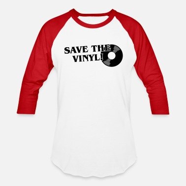Save The Vinyl Save the Vinyl - Unisex Baseball T-Shirt