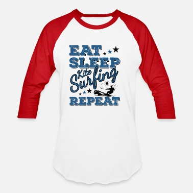 Kiteboard Eat Sleep Kiteboarding Repeat Funny Quote Pun Gift - Unisex Baseball T-Shirt