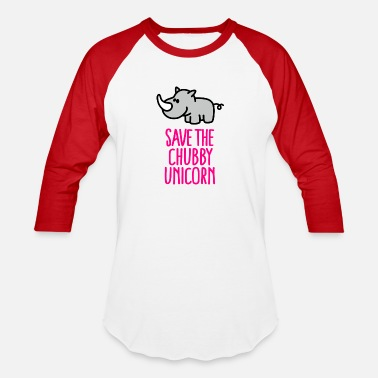 Save Chubby Unicorns - Unisex Baseball T-Shirt