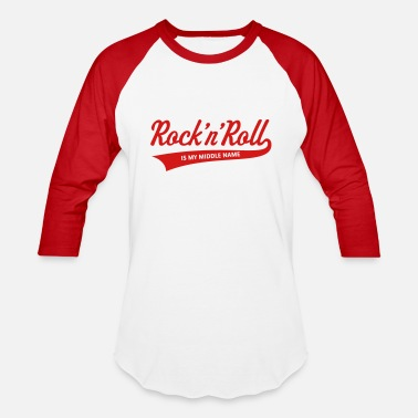 Roll Rock 'n' Roll Is My Middle Name (1C) - Unisex Baseball T-Shirt