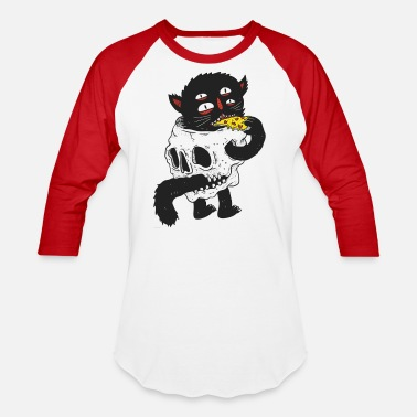 Skull Cat - Unisex Baseball T-Shirt