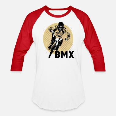 Bmx Funny BMX - Dirt Bike Racing Riding - Jump Humor - Baseball T-Shirt