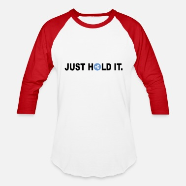 Mining Just Hold It Ripple Logo Design - cryptocurrency - Unisex Baseball T-Shirt