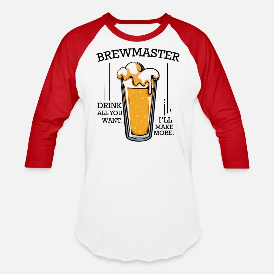 Brewery T-Shirts - Braumeister funny sayings beer brewer gift - Unisex Baseball T-Shirt white/red