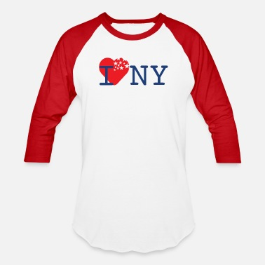 I Love New York I Love New York - Unisex Baseball T-Shirt