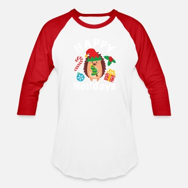Pet Christmas Hedgehog Christmas - Unisex Baseball T-Shirt
