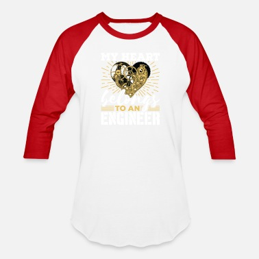 Engineer Girlfriend Engineer Wife Girlfriend Heart Belongs To Engineer - Baseball T-Shirt