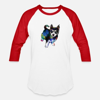 Husky - Dog - Unisex Baseball T-Shirt