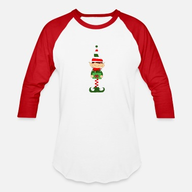 Elf Mom's christmas elf - Unisex Baseball T-Shirt