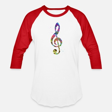 Treble Clef Treble Clef - Unisex Baseball T-Shirt