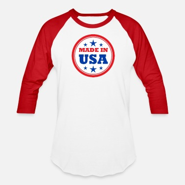 Made In Usa MADE IN USA - Unisex Baseball T-Shirt
