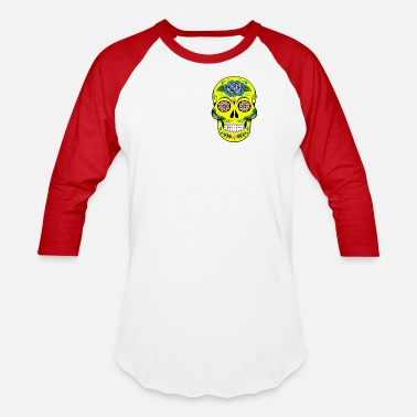 Tattoo Mexican Inspired Skull Colourful Tattoo Gift - Baseball T-Shirt