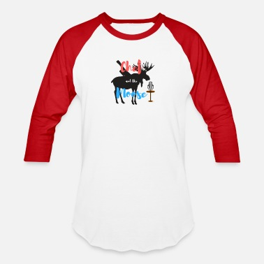 Chef and the Moose - Unisex Baseball T-Shirt