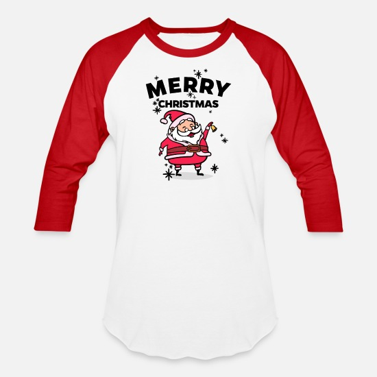 Merry Christmas T-Shirts - Merry Christmas - Unisex Baseball T-Shirt white/red