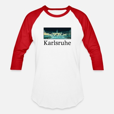 Karlsruhe Karlsruhe City Skyline Sights Silhouette - Baseball T-Shirt