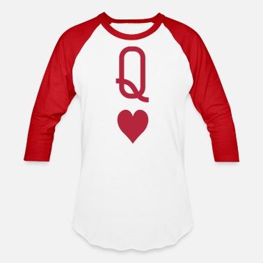 Queen queen_of_hearts - Unisex Baseball T-Shirt