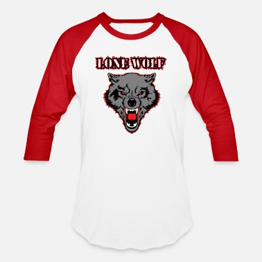 Lonely Wolf lone wolf - Baseball T-Shirt