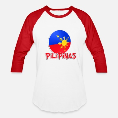 Philippine Quotes Blue White Red More Fun Philippines 1 - Baseball T-Shirt