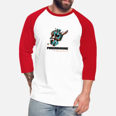 Television Television Programming, Retro Cartoon Style - Unisex Baseball T-Shirt