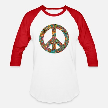Peace Peace Sign - Unisex Baseball T-Shirt