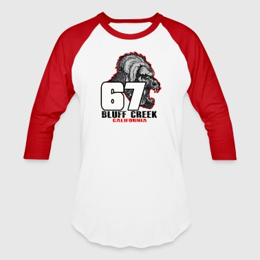 Legend of 67 Bluff Creek, CA - Baseball T-Shirt