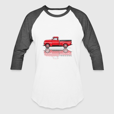 1949 47 54 advance red truck - Baseball T-Shirt