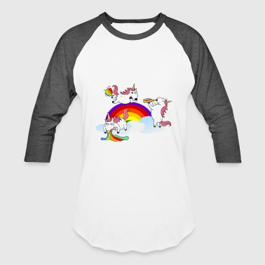 Unicorns Farting Drinking Puking - Baseball T-Shirt