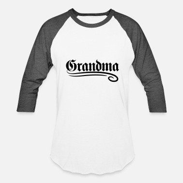 Writing mother text grandma granny old german writing gran - Baseball T-Shirt