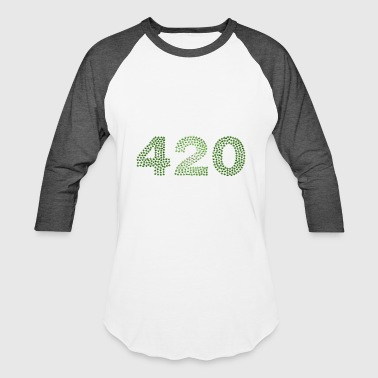 Weed Dope Stoned Present Mosaic - Baseball T-Shirt