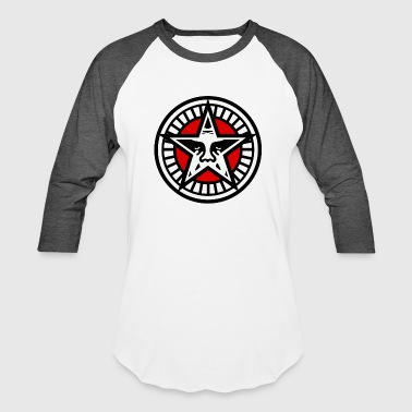 Obey Obey Star Face - Baseball T-Shirt