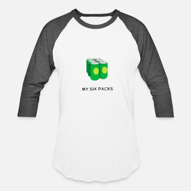 Six Pack Beer MY SIX PACK - Baseball T-Shirt