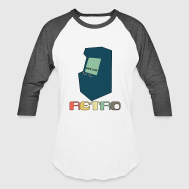 Retro Arcade Style Gaming - Baseball T-Shirt