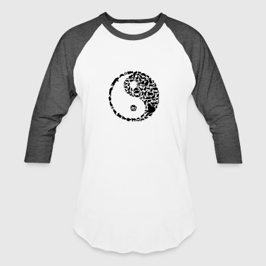 YinYang Cats - Baseball T-Shirt