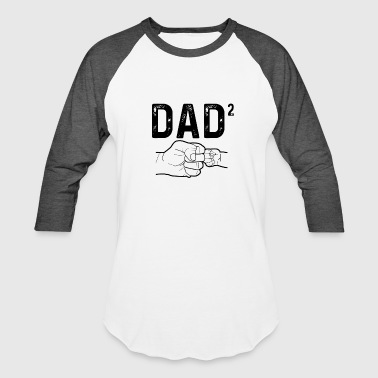Dad Of Two - Baseball T-Shirt