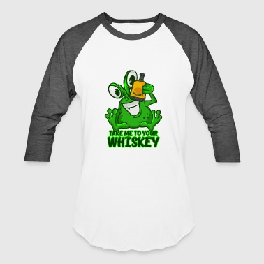 Take Me To Your Whiskey T-Shirt Funny Space Green - Baseball T-Shirt