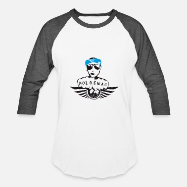 Swag Hands SWAG STYLE HIPSTER GEEK hand blue street SWAG - Baseball T-Shirt