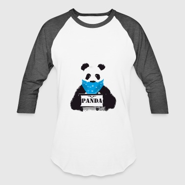 Gail panda search animal cute black white - Baseball T-Shirt