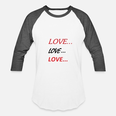 Lovely Love Love Love - Baseball T-Shirt