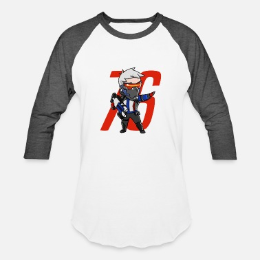 Overwatch Soldier 76 Cute Soldier 76 from Overwatch - Baseball T-Shirt