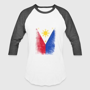 Philippines Flag Proud Filipino Vintage Distressed - Baseball T-Shirt