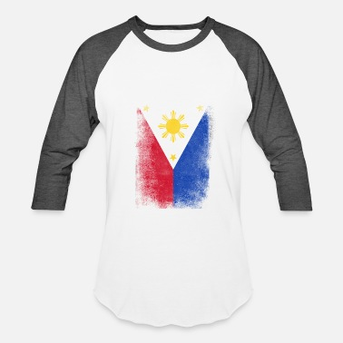 Filipino Philippines Flag Proud Filipino Vintage Distressed - Baseball T-Shirt