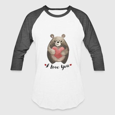 Hand drawn valentine animal - Baseball T-Shirt